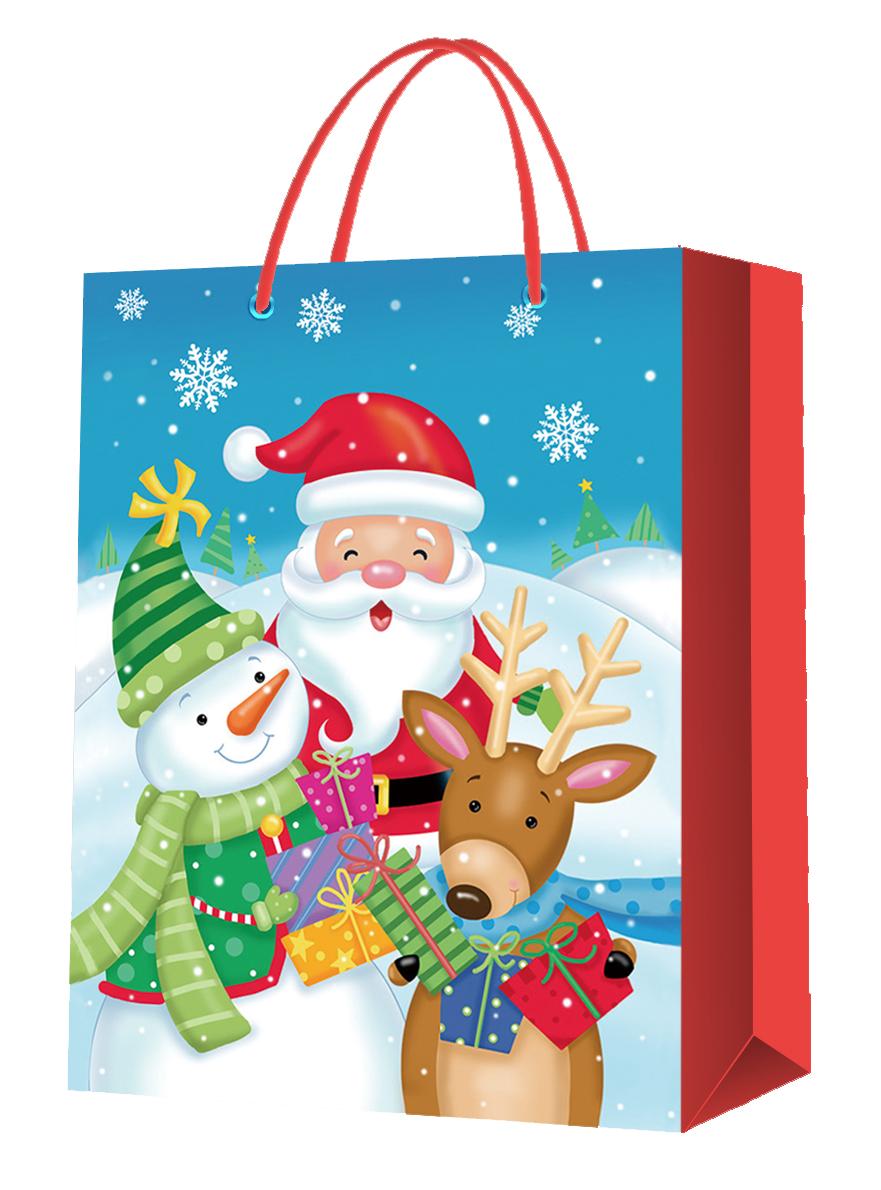 Sac Cabas Papier décor Noël 22.8*19*10 cm